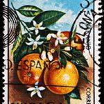Briefmarke Orangen Spanien