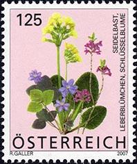 Briefmarke Frühlingsblumen