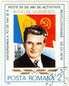 Diktatoren Briefmarke: Nicolae Ceausescu