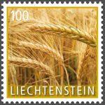Briefmarke Liechtenstein Gerste