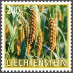 Hirse Briefmarke Liechtenstein