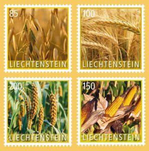Getreide auf Briefmarken