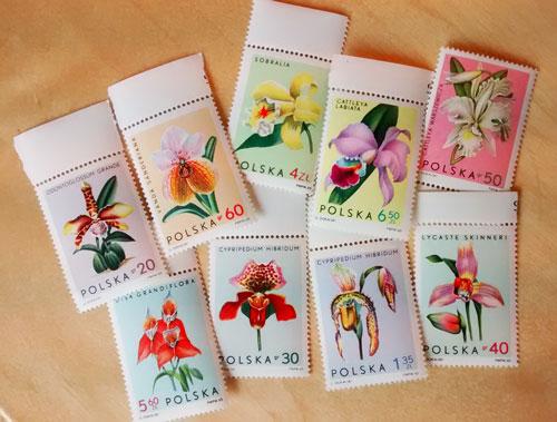 Orchideen Briefmarken Polen