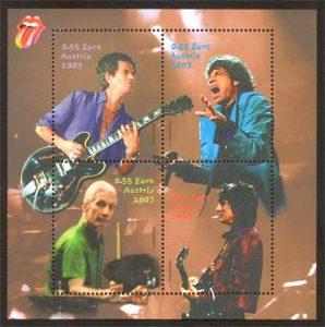 Briefmarke der Rolling Stones (2003), © Österreichische Post