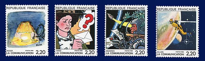 Die Comic Briefmarken von Reiser, Tardi, Mezieres und Gillon