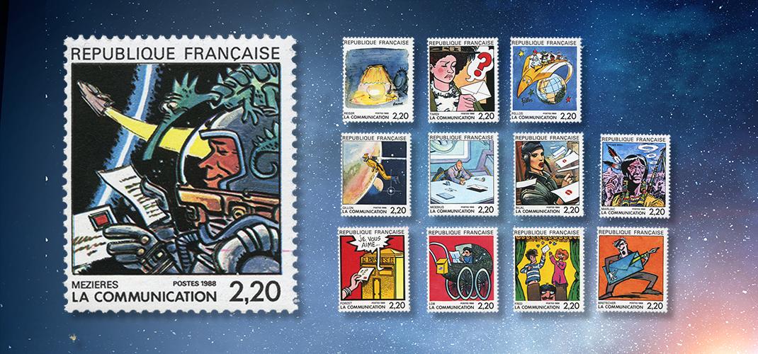 Die Briefmarke von VALERIAN-Zeichner Jean-Claude Mézières
