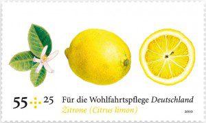 Duftbriefmarke Zitrone