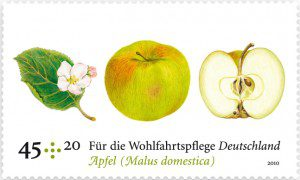 Duftbriefmarke Apfel