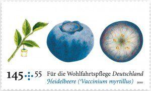 Duftbriefmarke Heidelbeer