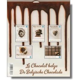 Süßes aus Belgien: Schoko-Briefmarken mit Duft und Geschmack