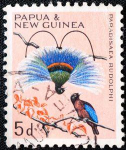 Briefmarke Blauparadiesvogel