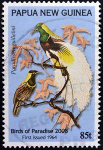 Briefmarke Kaiser-Paradiesvogel