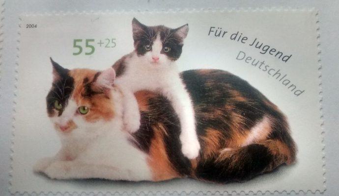 Briefmarke Katzen Deutschland