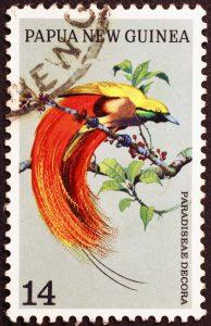 Briefmarke Paradiesvogel Papua-Neuguinea