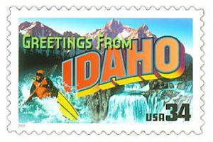 Urlaubsgrüße aus Idaho (©2001 USPS)