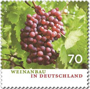 Briefmarke Weinanbau in Deutschland