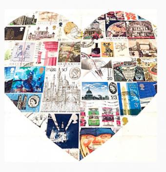 So ein Kunstwerk in Herzform könnte man auf der STAMPEX 17 in London bei Suzanne Ray kreieren.