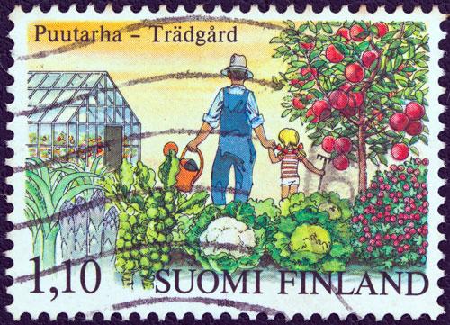 Gemüse Briefmarke Finnland