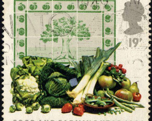 Gemüse Briefmarke GB