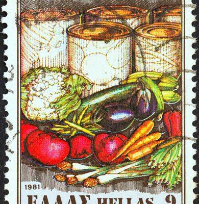 Gemüse Briefmarke Griechenland