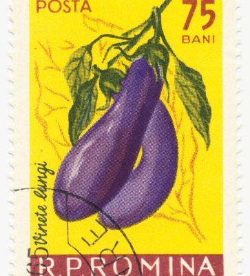 Gemüse Briefmarke Rumänien