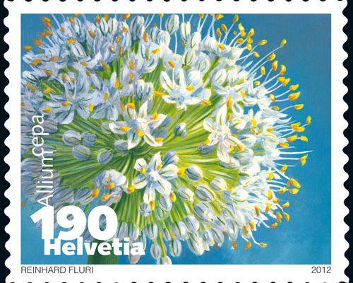 Gemüse Briefmarke Schweiz Zwiebel