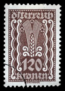 Getreide Briefmarke Österreich