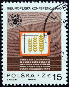 Polen Getreide Briefmarke