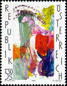 Briefmarke von Max Weiler, 1993