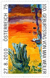Briefmarke anlässlich des 100. Geburtstags von Max Weiler