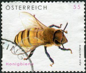 Bienen-Briefmarke Österreich