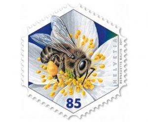 Bienen Briefmarke Schweiz