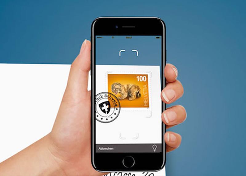 Schweizer Briefmarken mit Multimedia Effekt – seit 2017 sind die Marken der Schweizer Post mehr als bloße Wertzeichen! (© Schweizer Post)