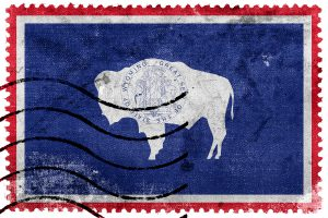 Bison Briefmarke aus Wyoming, ©promesaartstudio / fotolia.com