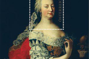 """""""Reserl"""", wie Maria Theresia von ihrem Mann Franz Stephan genannt wurde, war nicht nur die große Landesmutter Österreichs, sondern auch die """"Schwiegermutter Europas"""", da sie ihre Kinder nach machtpolitischen Gesichtspunkten verheiratete. (© Österreichische Post AG)"""