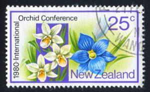 Orchideen Briefmarke Neuseeland