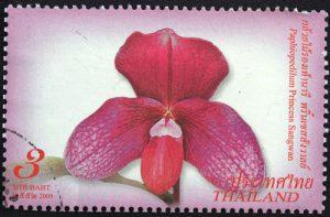 Orchideen Briefmarke Thailand