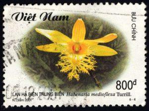 Orchideen Briefmarken Vietnam