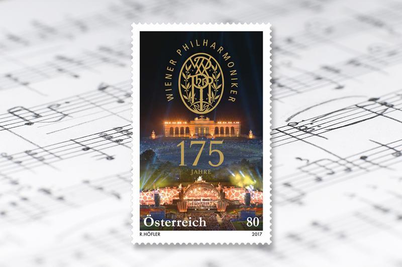 Sie sind eines der besten Orchester der Welt, viele halten sie für das beste: Die Wiener Philharmoniker. Sie tragen die Musik aus Wien als Botschafter rund um den Globus. (© Österreichische Post)