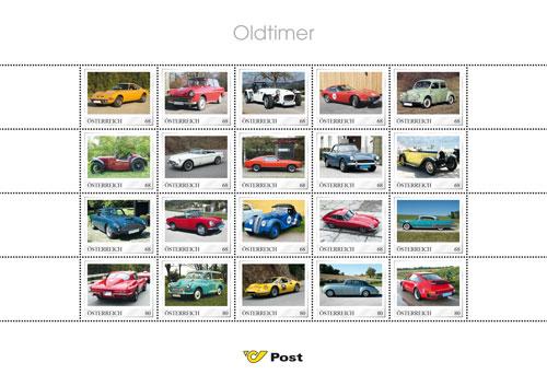 Briefmarkenbogen Oldtimer