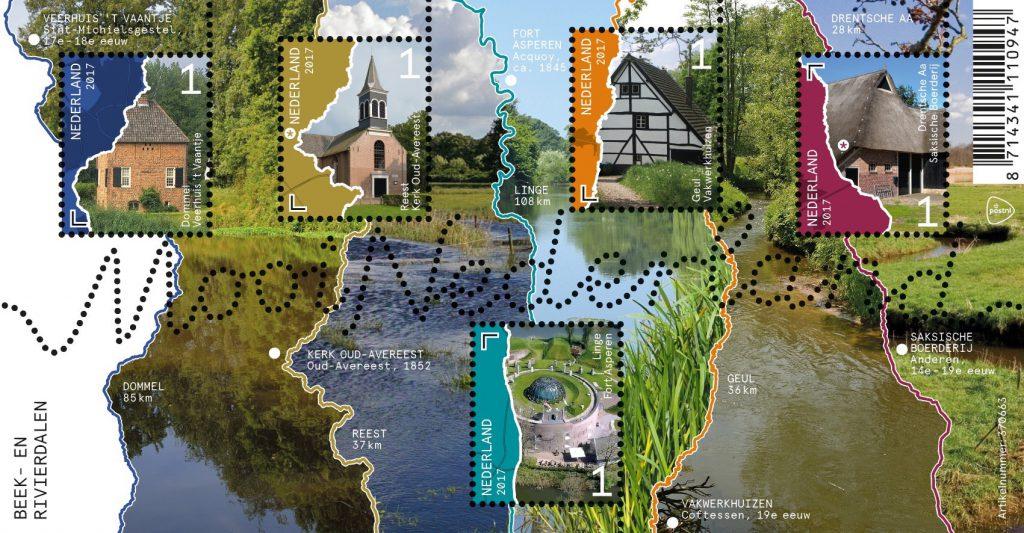 """""""Viel Natur, kleine Dörfer, manchmal ganz eben und einsam, dann wieder bewaldet und hügelig. Holland kann so leer, so still und so schön sein"""", gibt Pascal Brun seine Eindrücke von der niederländischen Bach- und Flusslandschaft wieder. (© PostNL)"""