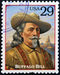 Buffalo Bill auf US-amerikanischer Briefmarke, ©neftali / shutterstock.com
