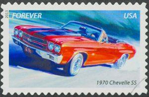 Chevrolet Chevelle Briefmarke