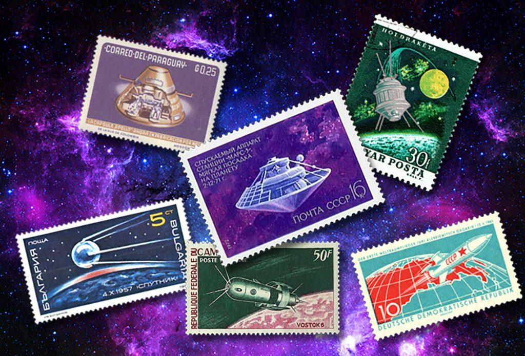 Briefmarken sammeln nach Themen: Weltraum (© Godov Sander)