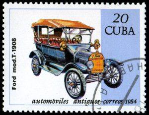 Ford T Briefmarke