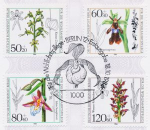 Orchideen Briefmarken Berlin