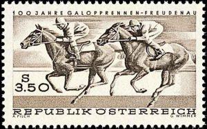 Briefmarke Freudenau, 1968; © Österreichische Post