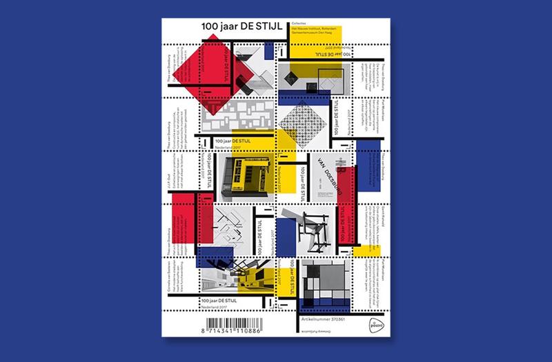 """""""De Stijl"""" – deutsch: Stil – bekannte sich zu einer geometrisch-abstrakten, asketischen Darstellungsform. (© PostNL)"""