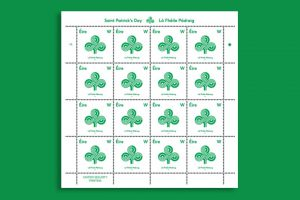 Saint Patricks Day Briefmarke