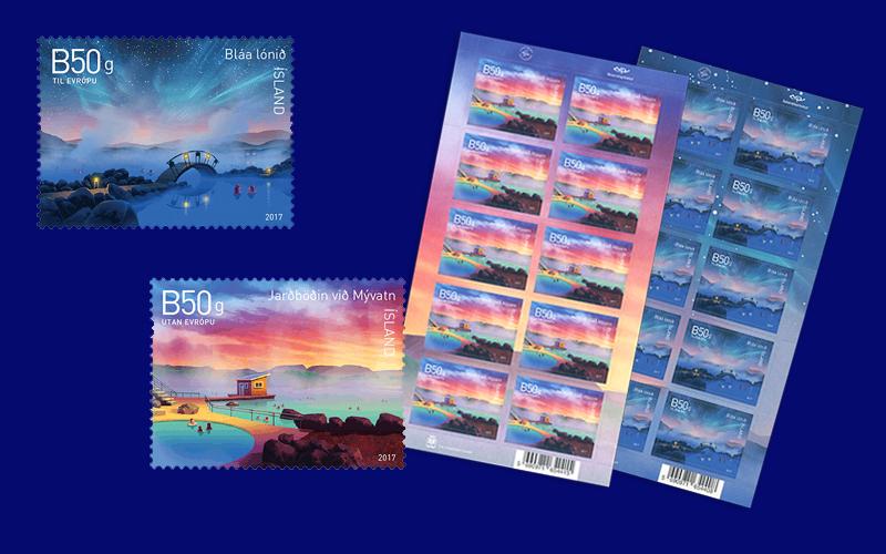 Mit diesen Briefmarken setzt Island ein Zeichen für den langfristigen Schutz der natürlichen und kulturellen Ressourcen des Landes. (© Island Post)